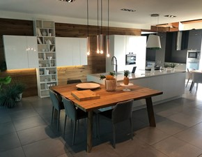 Cucina Zecchinon moderna ad isola bianca in laccato lucido K105