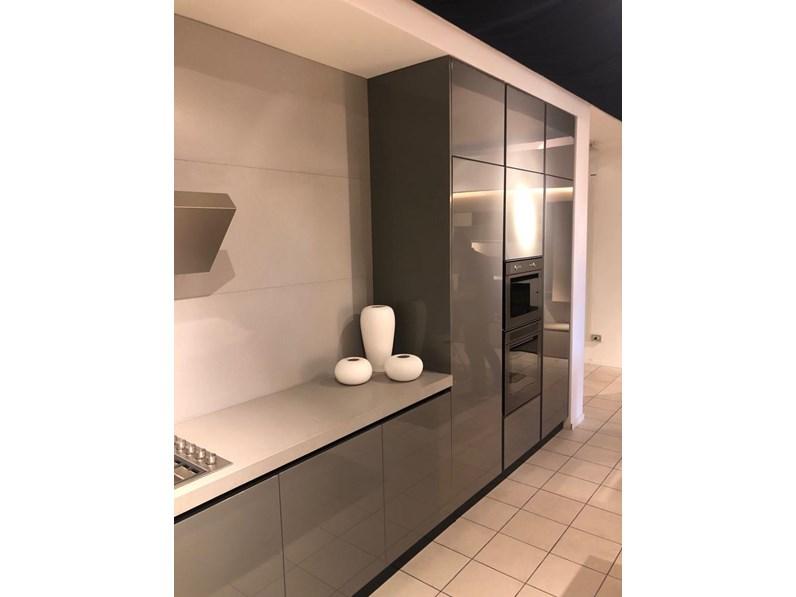 Cucina zecchinon moderna grigio ad isola zecchinon - Cucina grigio antracite ...