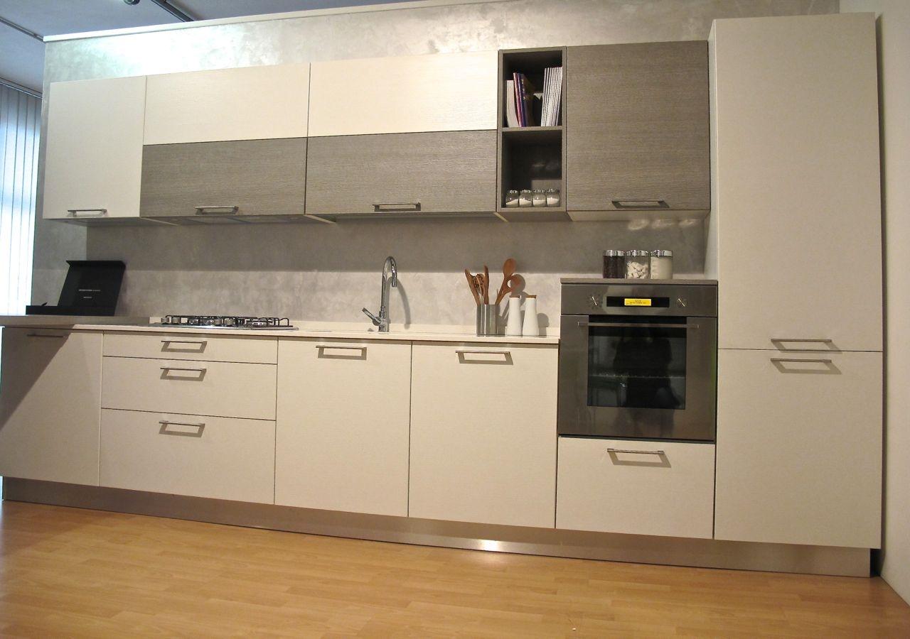 60 % Cucina Zecchinon In Laminato Materico E Top In Quarzo Scontata #8E6A3D 1280 900 Top Cucina In Laminato Opinioni