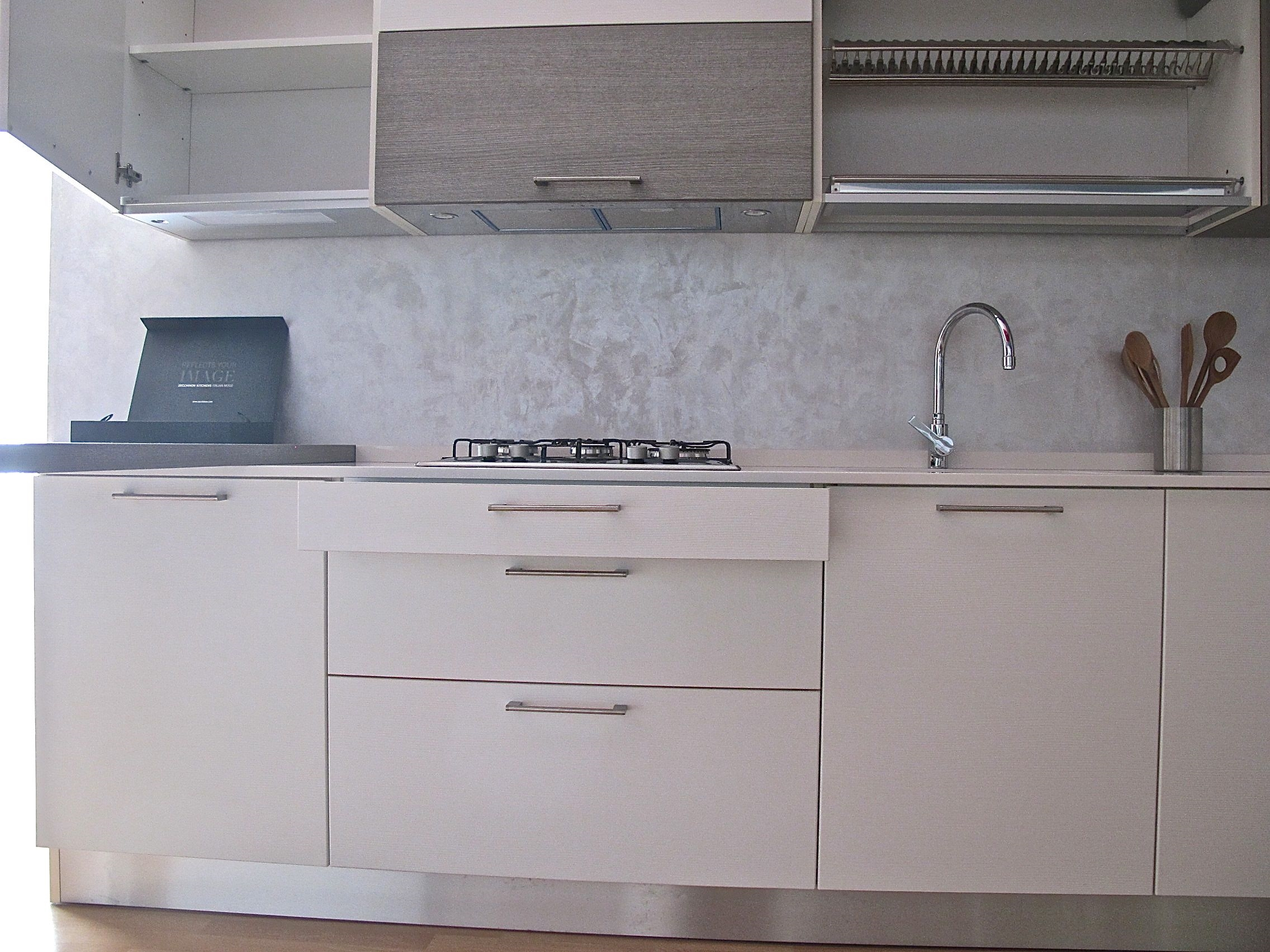 Cucina zecchinon top in quarzo sconto 60 cucine a - Top cucina in quarzo prezzi ...