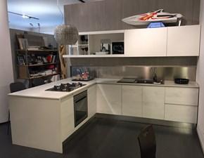 Cucina Zenit moderna bianca con penisola Artigianale