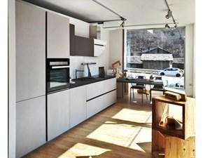 Cucina Zeta 6 moderna grigio con penisola Arredo3