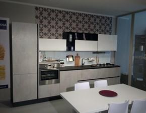 Cucina + zona living + tavolo Aleve' Stosa cucine a prezzo scontato