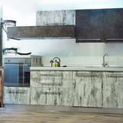 CUCINA SETA BROWN E GREY WOOD