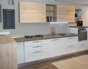 cucina moderna vintage bicolore rovere e white
