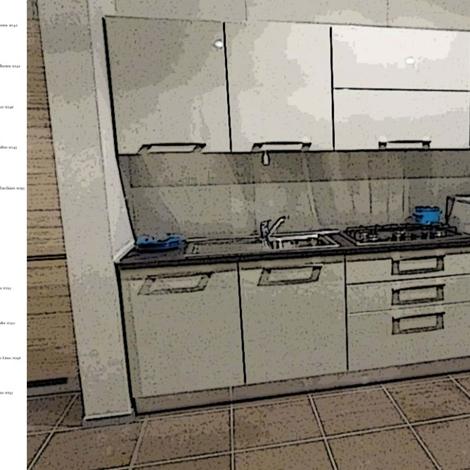 offerta dibiesse cucina spring lucida con bosch e piano in okite ... - Cucine Bosch