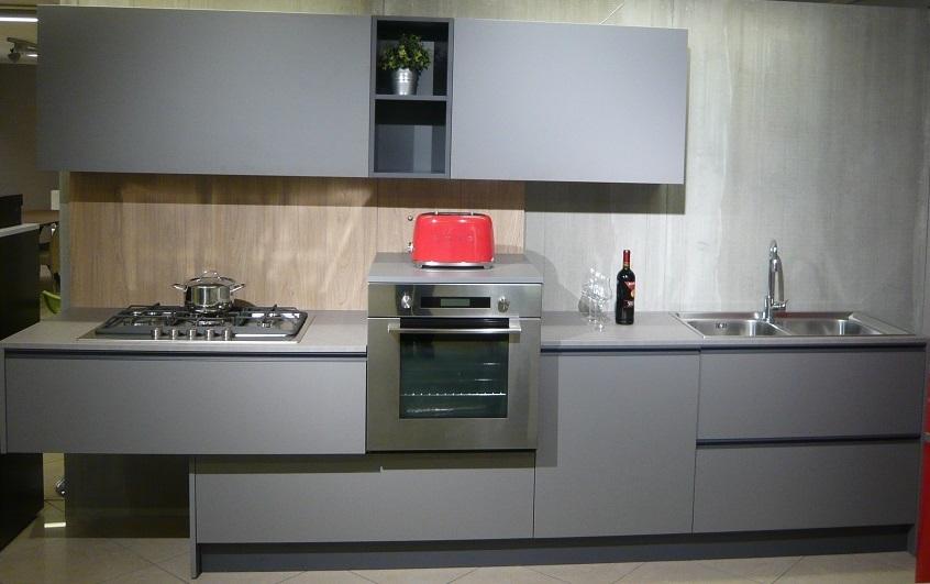 Doimo cucine cromatika grigio piombo scontata 55 cucine - Qualita doimo cucine ...