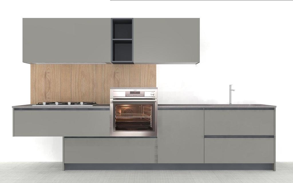 Doimo cucine cromatika grigio piombo scontata 55 cucine - Prezzi doimo cucine ...