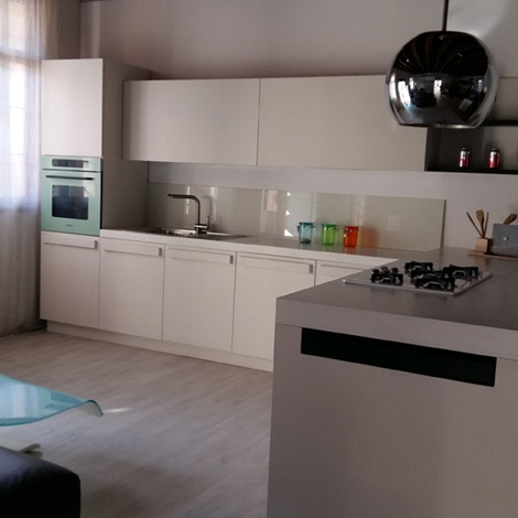 Doimo cucine cucina city moderno legno bianca cucine a - Cucina bianca legno ...