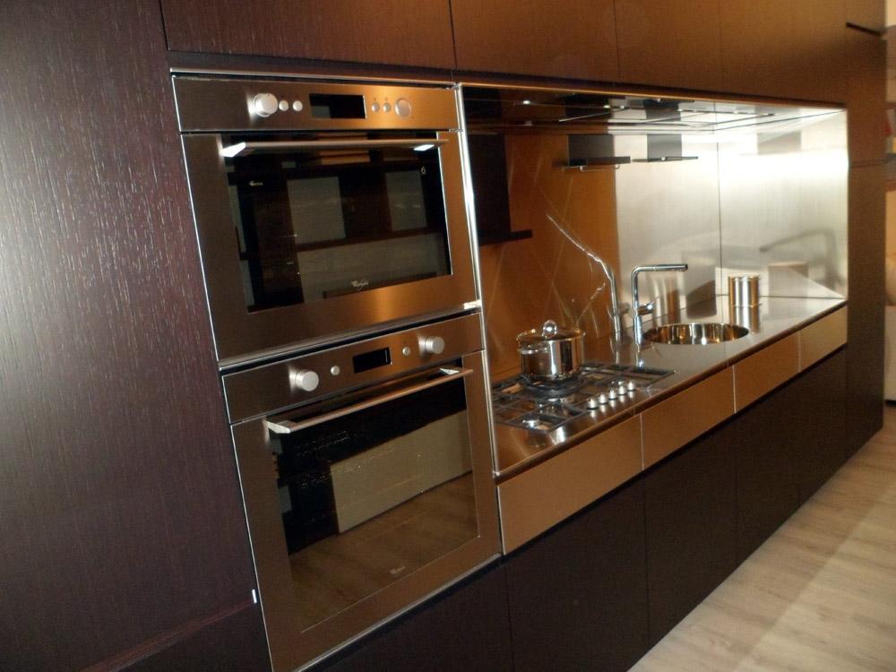 Elmar cucine cucina el 01 design legno rovere moro cucine a prezzi scontati - Cucine legno e acciaio ...
