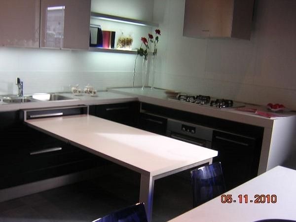 Elmar cucine cucina rgl moderna laccate opaco blu cucine a prezzi scontati - Cucine con tavolo estraibile ...