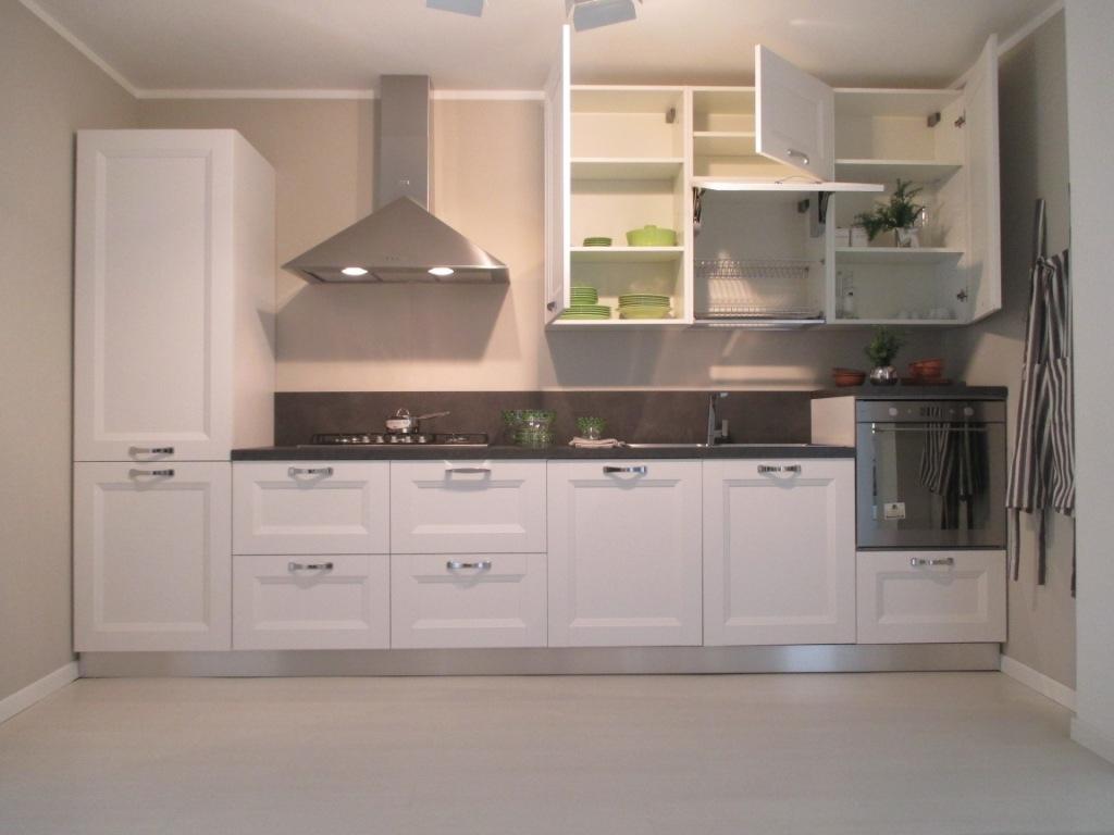Forma 2000 cucina asia moderno laminato materico bianca - Cucina laminato effetto legno ...
