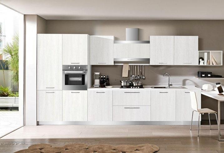 Gentili cucine mod fiamma moderna laminato materico - Cucina laminato effetto legno ...