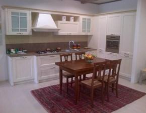Cucina angolare GENTILI in legno laccato decapè modello Village
