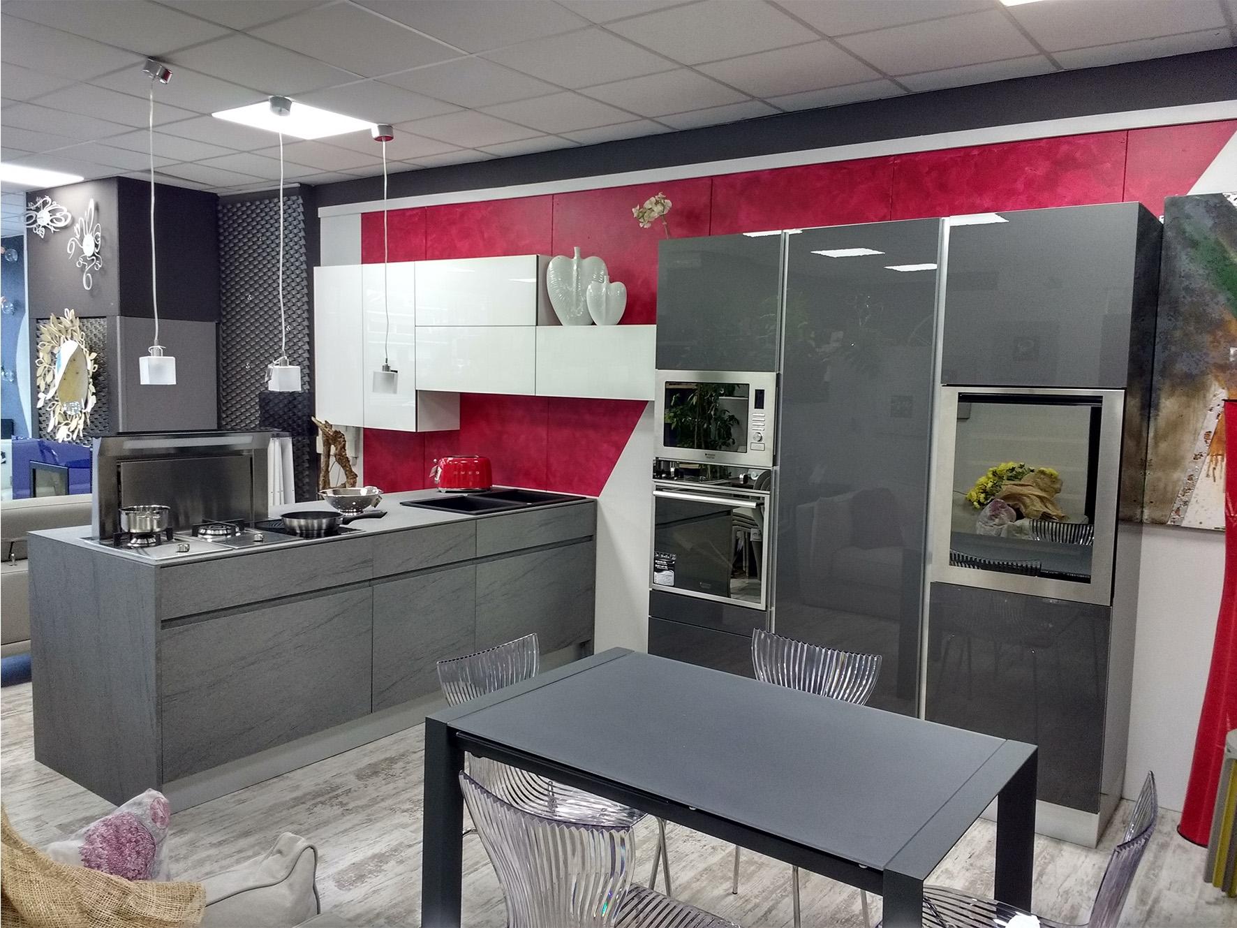 Cucine con isola gory cucine mod geo 45 monolite scontata del 40 cucine a prezzi scontati - Cucine a induzione consumi ...