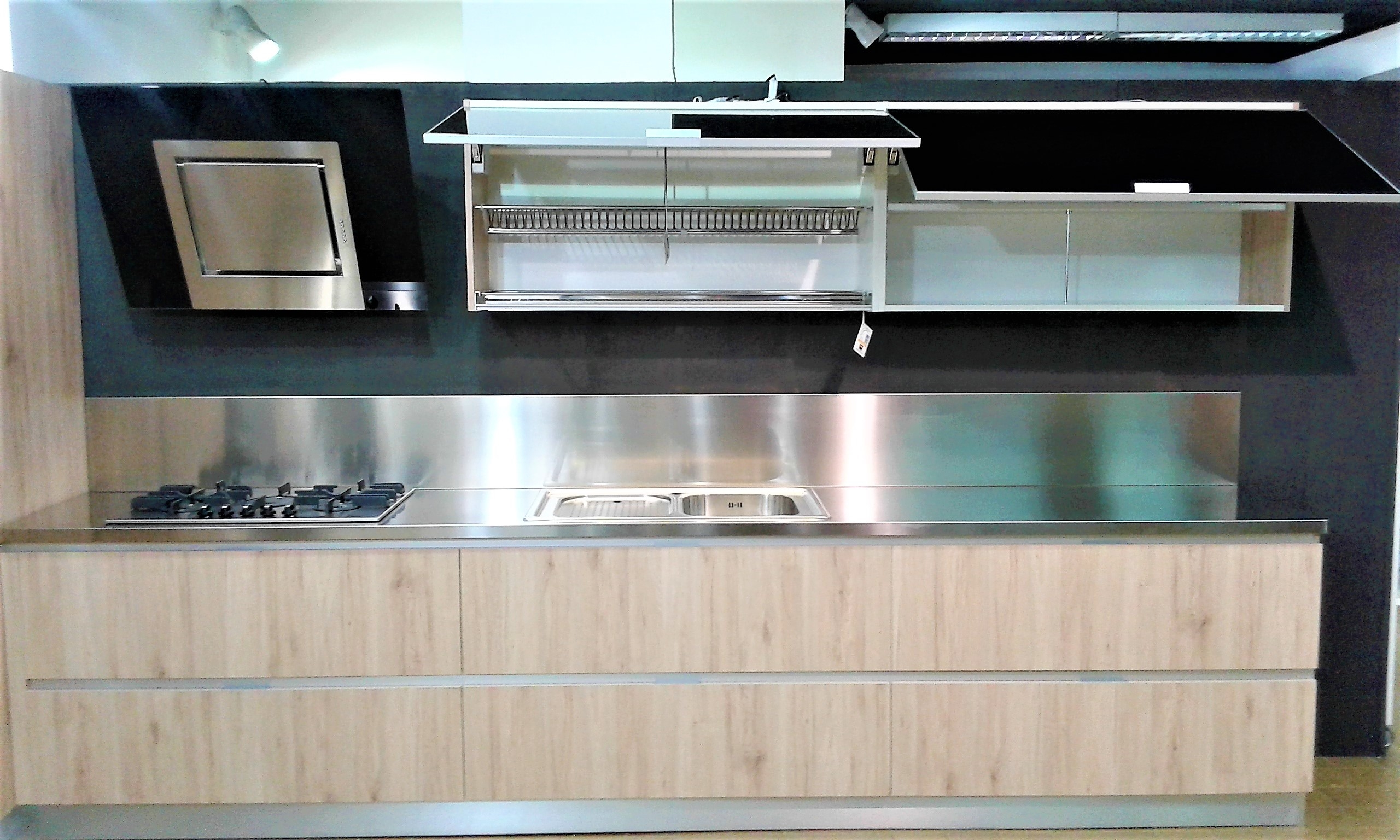 Home cucine cucina modello simplicia finitura naturale 530 cucine a prezzi scontati - Pistoni vasistas cucina ...