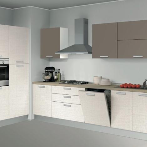 Imperdibile cucina 4.80mtl 3 colonne + lavastoviglie + top agglomerato - Cucine a prezzi scontati