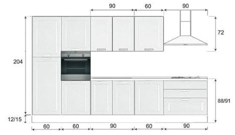 Imperdibile cucina impiallacciata 2 colonne top - Dimensioni top cucina ...