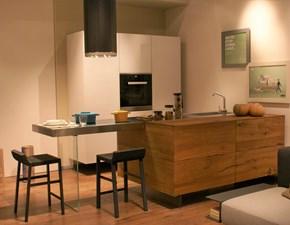 Lago Cucina Air kitchen wildwood naturale e acciaio inox spazzolato