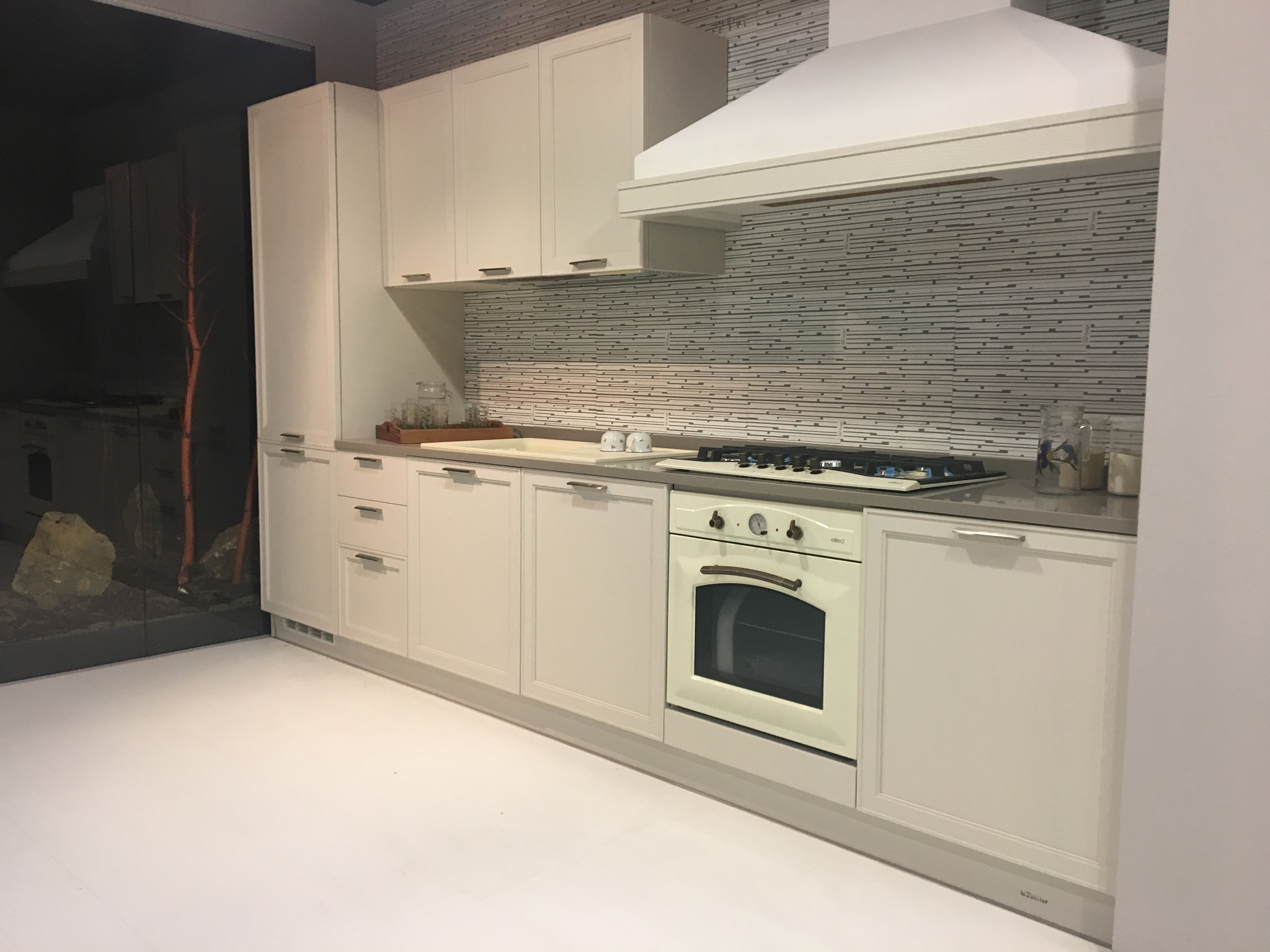 Le fablier cucina melograno moderne laccato bianca - Cucine le fablier ...