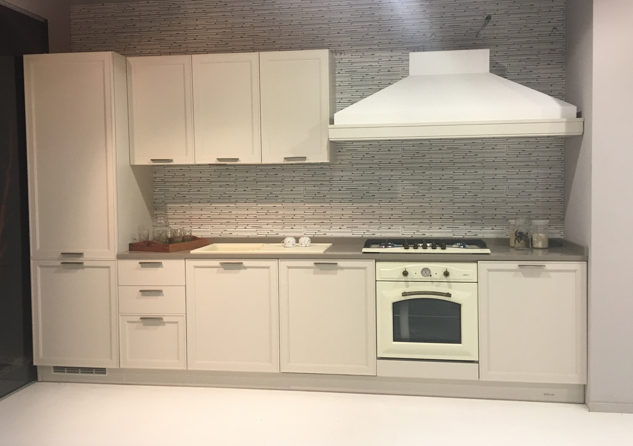 Le fablier cucina melograno moderne laccato bianca - Le fablier cucine prezzi ...