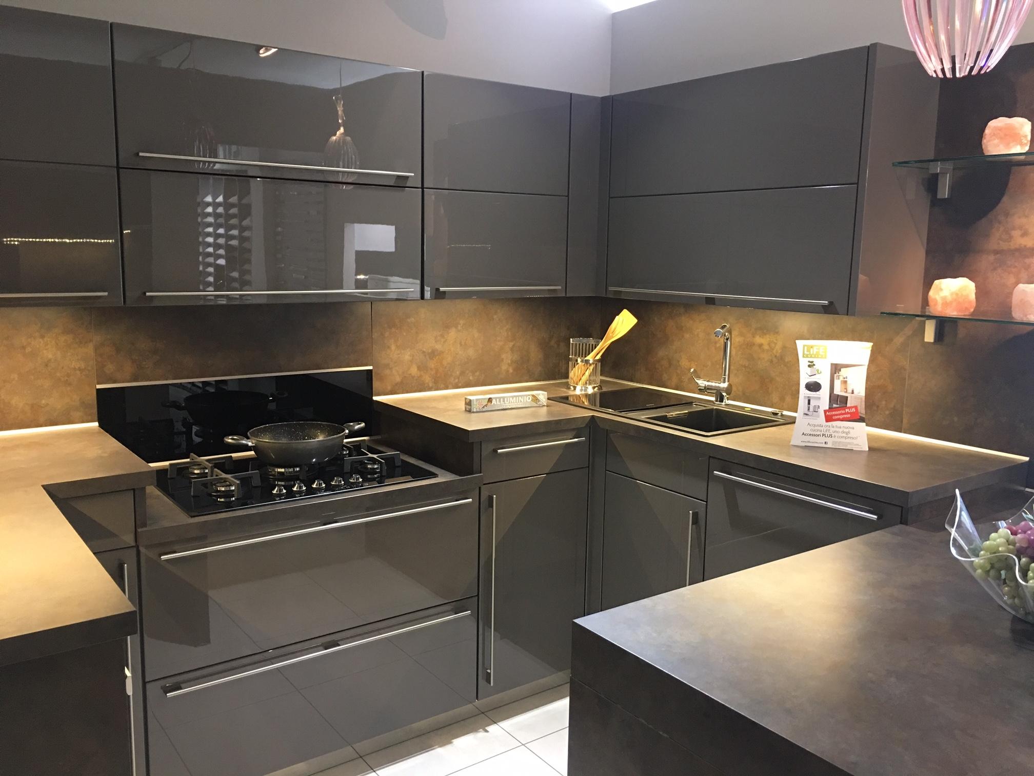 Cucina ad angolo life cucine lux in promozione cucine a - Life cucine milano ...
