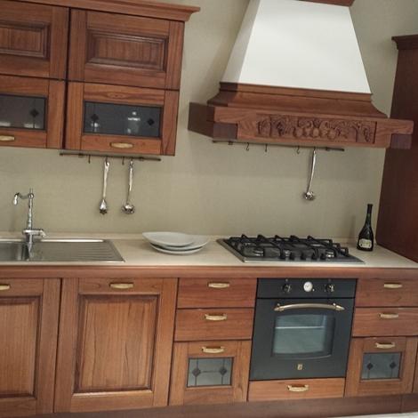 Cucina lube modello laura arte povera in legno massello - Cucine in arte povera ...