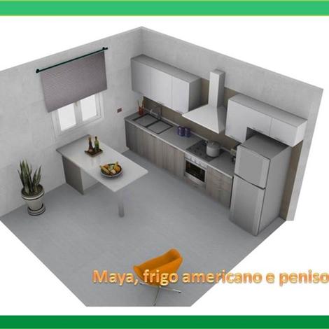Maya stosa cucine con penisola e frigo americano cucine a prezzi scontati - Cucine senza frigo ...