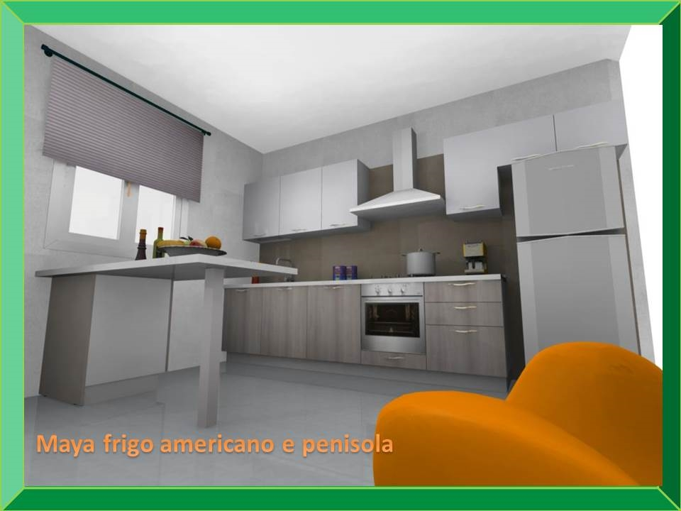 Awesome Cucina Con Frigo Americano Photos - Skilifts.us - skilifts.us