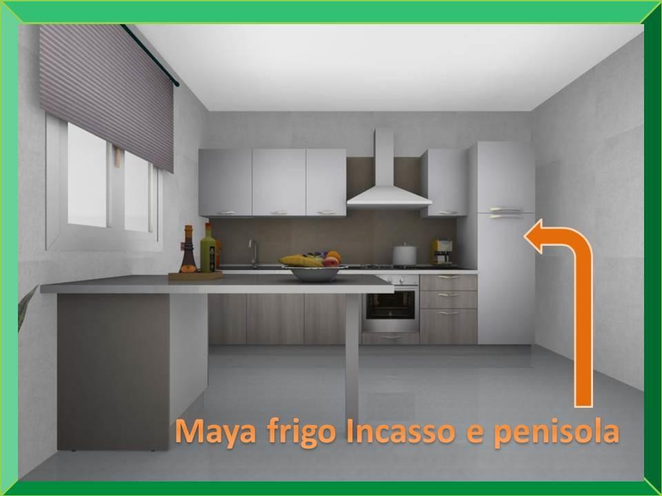 Maya stosa cucine con penisola e frigo americano - Cucine ...