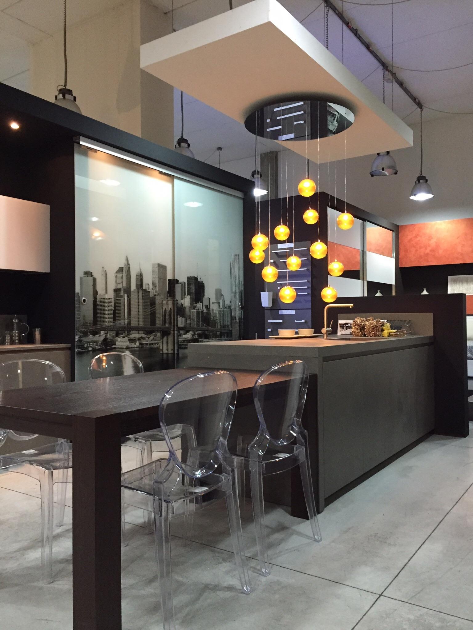 Modulnova Cucina Twenty Kerlite Gres   Vetro Scontato Del  60 %  #8D573E 1536 2048 Modelli Tende Sala Da Pranzo