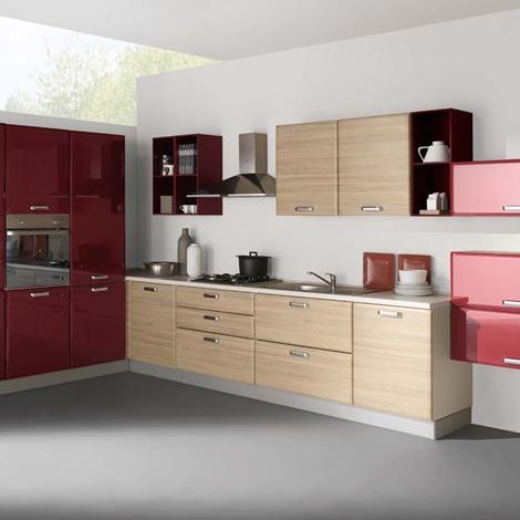 Netcucine cucina moderna ad angolo con elettrodomestici - Cucina moderna ad angolo ...