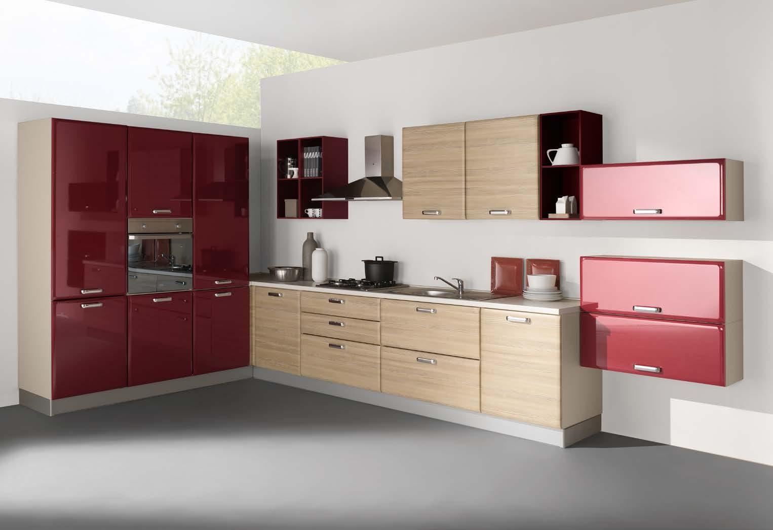Netcucine cucina moderna ad angolo con elettrodomestici - Elettrodomestici cucina ...