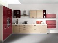 Cucina moderna ad angolo con elettrodomestici cod. 07