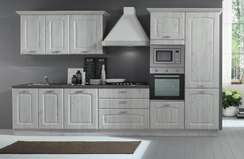 Cucina lineare in stile classico con elettrodomestici - Elettrodomestici cucina ...