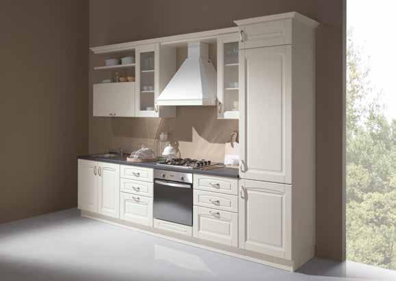 Netcucine cucina lineare in stile classico con for Cucina moderna 330