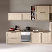 Cucina lineare contemporanea con elettrodomestici inclusi
