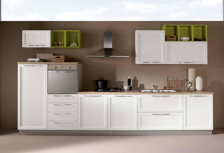 Netcucine cucina lineare in stile contemporaneo con - Cucina con elettrodomestici ...