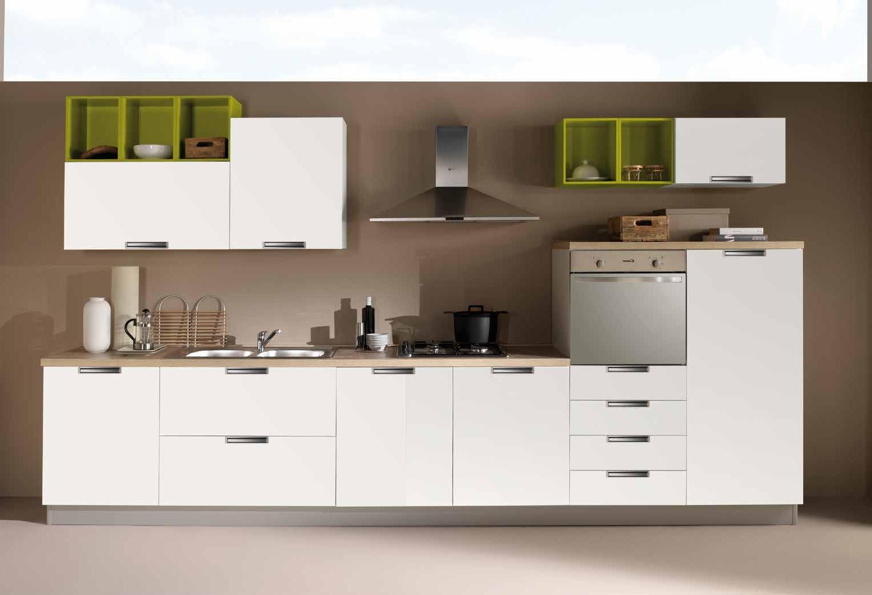 Netcucine Cucina Lineare In Stile Moderno Con Elettrodomestici Inclusi Cod 16 Spedizione