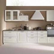Cucina lineare in stile contemporaneo con elettrodomestici inclusi