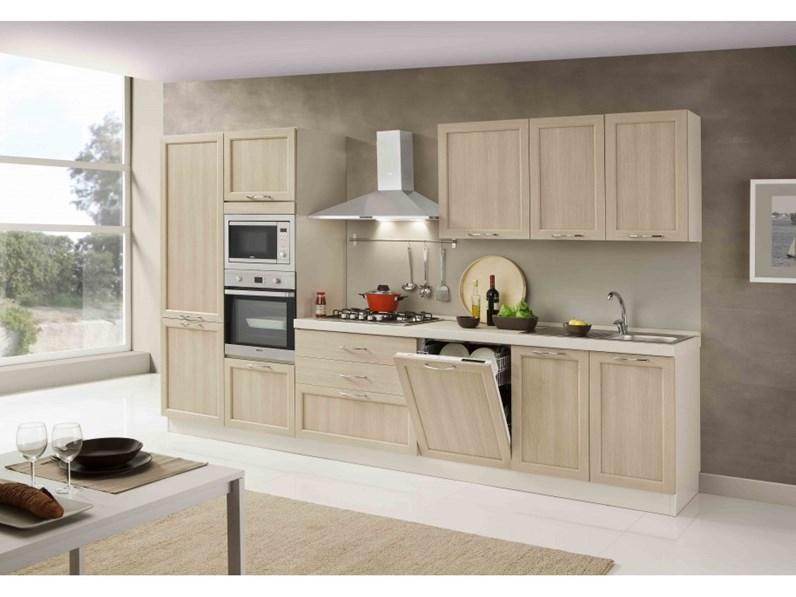 Netcucine cucina lineare in stile contemporaneo con for Cucine in stile