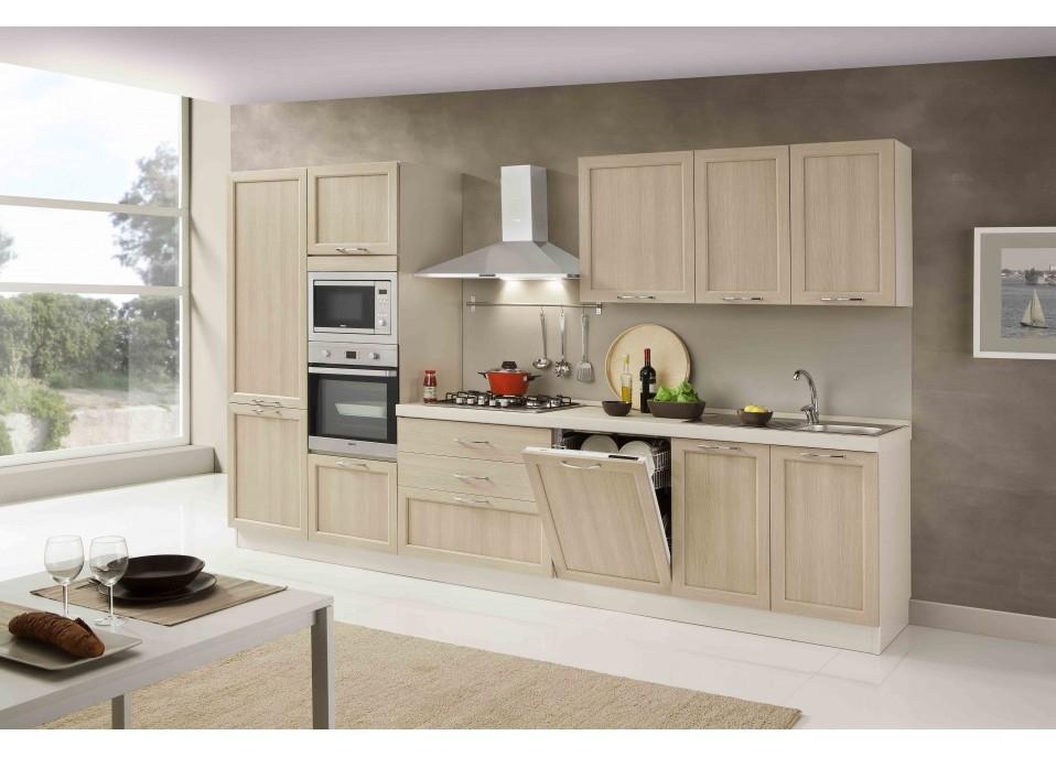 Netcucine cucina lineare in stile contemporaneo con elettrodomestici inclusi cod 08 for Cucina lineare 3 metri
