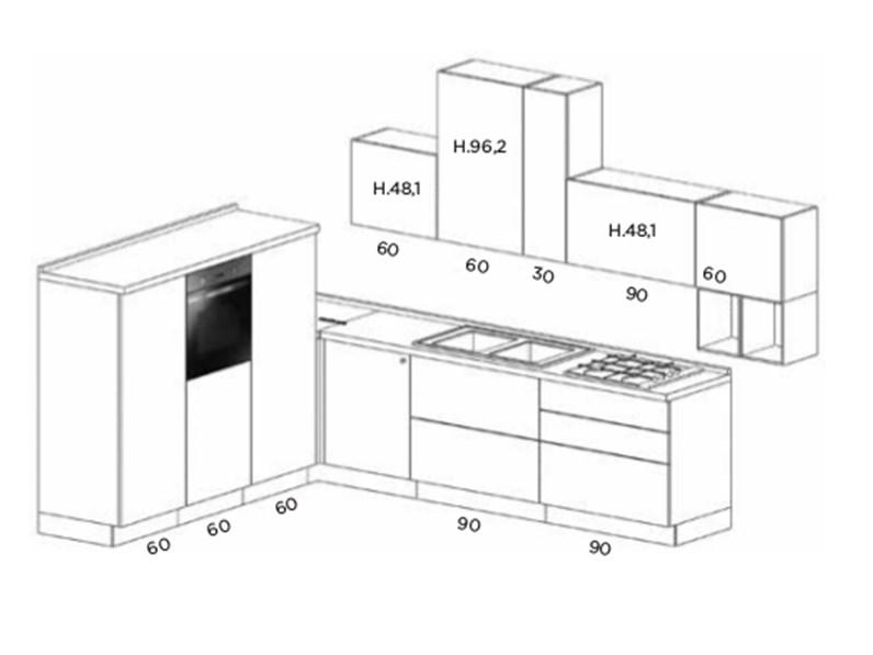 Cucina moderna ad angolo con elettrodomestici - Cucina moderna ad angolo ...