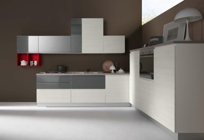 Cucina moderna ad angolo con elettrodomestici cucine a - Cucine con forno ad angolo ...