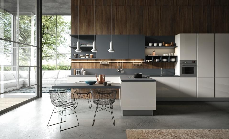 Nuova cucina scontata con penisola modello my urban 3 0 di for Penisola da cucina