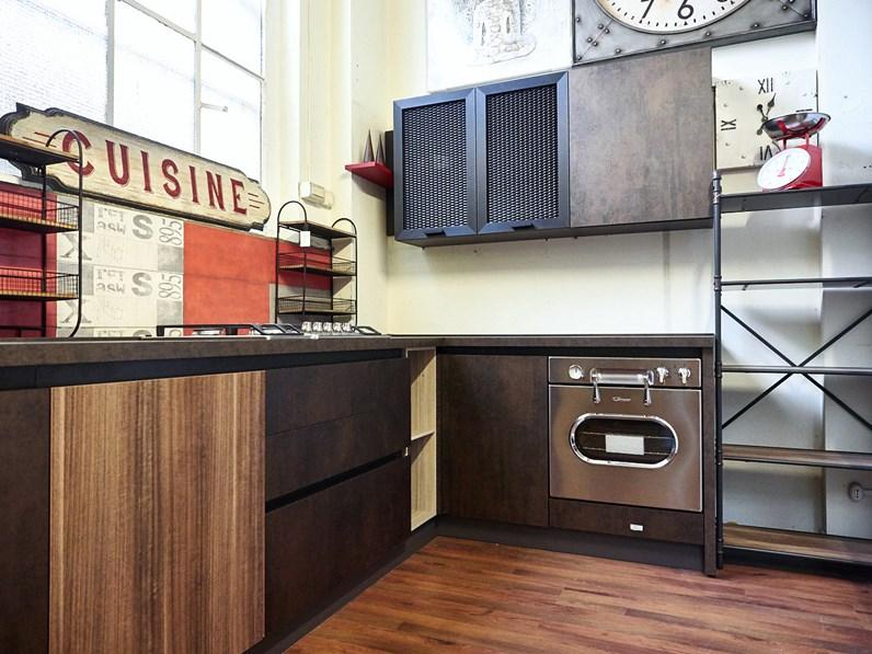 Nuovi mondi cucine cucina cucina angolare industriale bronzo e ferro in offerta outlet - Outlet arredamento cucine ...