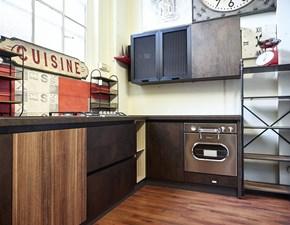 cucina angolare industriale bronzo e ferro in offerta outlet nuovimondi