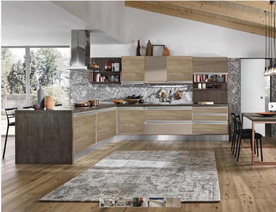 Nuovi mondi cucine cucina cucina con penisola angolare con - Cucine in muratura con penisola ...