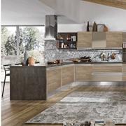 cucina tipo stosa con penisola