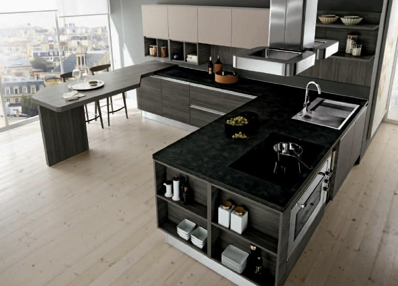 Nuovi mondi cucine cucina cucina con penisola linear disegn etno glam scontato del 35 - Cucine a penisola ...